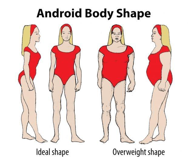 Тип женской фигуры Андроид